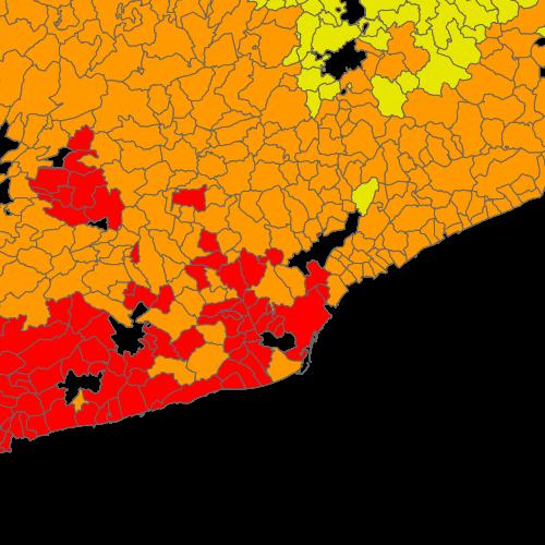 Mapa De Protecció Civil.Mapa De Proteccio Civil De Catalunya Risc Per Incendis